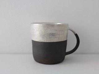 マグカップ(銀彩) 黒&シルバー