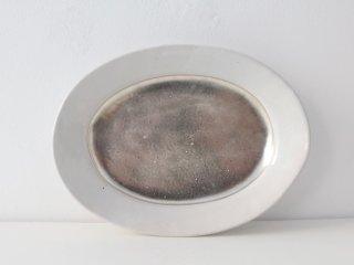 オーバル皿(銀彩)ソコ