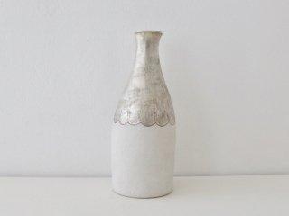 中囿義光 花器 銀彩(ホワイト)