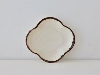 四弁花小皿 ホワイト