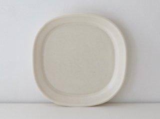 小峰英利 四方皿(M)ホワイト