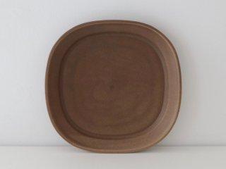 小峰英利 四方皿(M)ブラウン