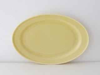 オーバル皿(M)イエロー
