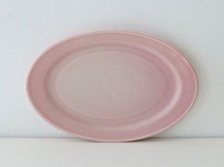 オーバル皿(M)ピンク