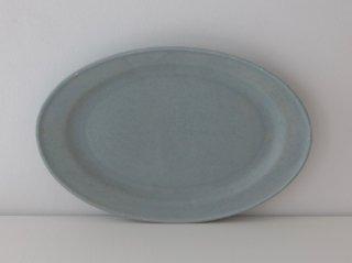 オーバル皿(M)ブルー A
