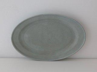 オーバル皿(M)ブルー B