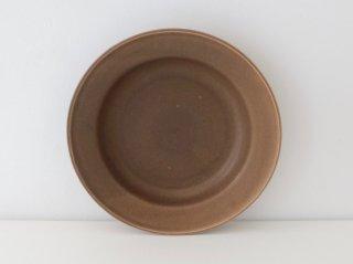 小峰英利 リム皿(M)ブラウン
