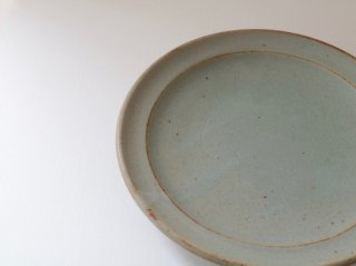 菅谷太良 リム皿(7寸) アイスブルー