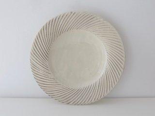 鎬 リム皿 (八寸)