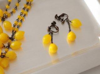 ミサキカナ レモンのイヤリング