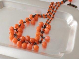 ミサキカナ オレンジのネックレス