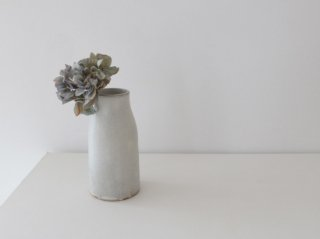 鯨井円美 花器 B ホワイト