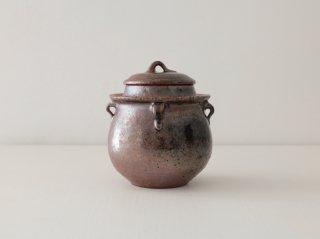 八塊柴窯工房 小小豬油罐造型糖罐 1