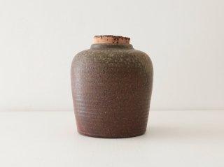 八塊柴窯工房 直身茶罐 1