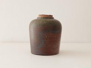 八塊柴窯工房 直身茶罐 2