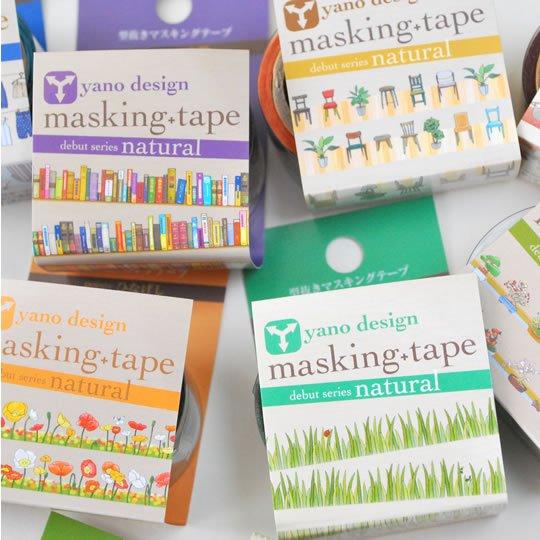 女性チームによる岡山県の老舗デザイン事務所「yano design」と、シール印刷メーカーの「ラウンドトップ事業部」とのコラボレーションテープ。  メッセージカードや