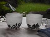 草花のカップ