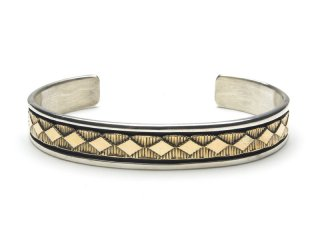 BRUCE MORGAN ブルースモーガン 3/8inch 14K STAMP BANGLE-DIA