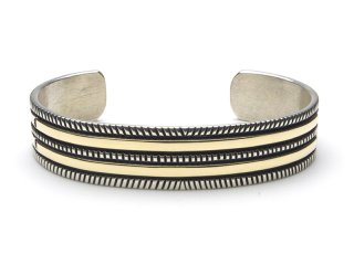 BRUCE MORGAN ブルースモーガン 1/2inch 14K STAMP BANGLE-2 CHISEL