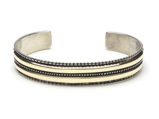 BRUCE MORGAN ブルースモーガン 3/8inch 14K STAMP BANGLE-2CHISEL