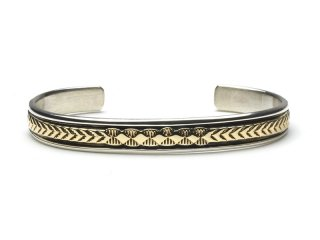 BRUCE MORGAN|1/4inch 14K STAMP BANGLE (DIA ARROW) #S SIZE