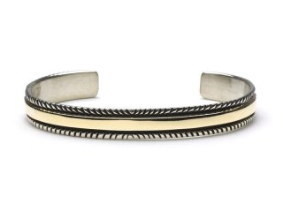 BRUCE MORGAN|1/4inch 14K STAMP BANGLE (CHISEL) #S SIZE