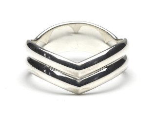 END エンド W DOME OFFICER RING