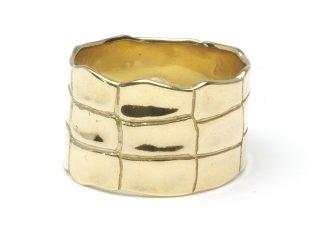 END エンド CROCODILE RING-GOLD