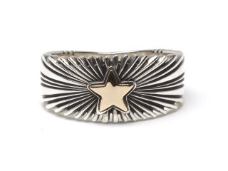 PAT BEDONIE パットべドニー 14K 3/8 STAR SUNBURST RING