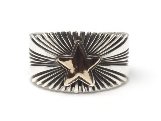 PAT BEDONIE パットべドニー 14K 1/2 STAR SUNBURST RING