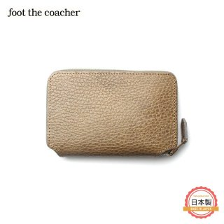 フットザコーチャー foot the coacher SHORT ZIP WALLET GRAY