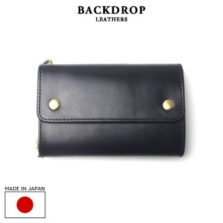 BACKDROP Leathers バックドロップ・レザーズ|MIDDLE BILL WALLET ミドルビルウォレット