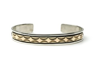 BRUCE MORGAN ブルースモーガン 3/8inch 14K STAMP BANGLE-FOUR STAR