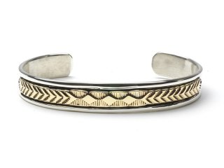 BRUCE MORGAN ブルースモーガン 3/8inch 14K STAMP BANGLE-DIA ARROW