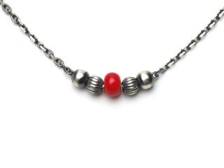 CHAIN ANKLET-RED