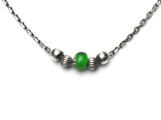 CHAIN ANKLET-GREEN