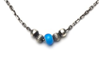 CHAIN ANKLET-LIGHT BLUE