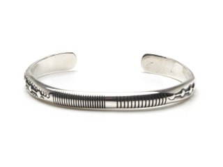 NORBERT PESHLAKAI|HALF ROUND WIRE BANGLE