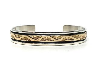 BRUCE MORGAN ブルースモーガン 3/8inch 14K STAMP BANGLE-WAVE