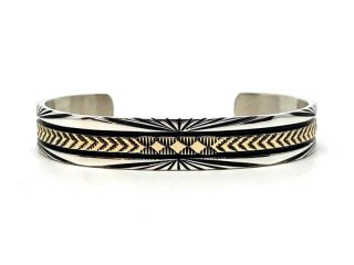 BRUCE MORGAN ブルースモーガン 3/8inch 14K STAMP BANGLE-SUN BURST DIA