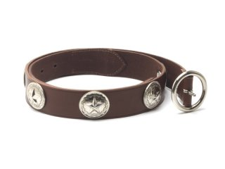フットザコーチャー foot the coacher WESTERNER BELT-CONCHO-BROWN