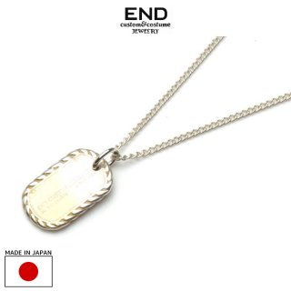 END エンド MINIATURE DOGTAG NECKLACE