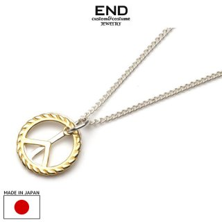 END エンド PEACE SYMBOLE NECKLACE