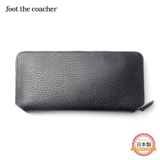 フットザコーチャー foot the coacher LONG ZIP WALLET(BK/WHITE)