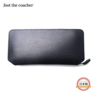フットザコーチャー foot the coacher LONG ZIP WALLET-BK/BROWN