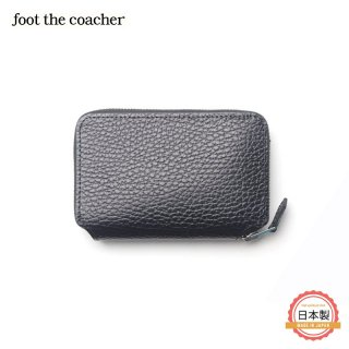 フットザコーチャー foot the coacher SHORT ZIP WALLET(BK/WHITE)