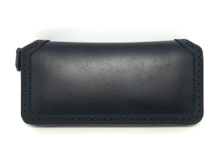 フットザコーチャー foot the coacher BROGUE ZIP WALLET-BLACK