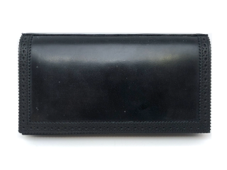 フットザコーチャー foot the coacher BROGUE WALLET-BLACK