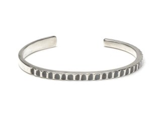 MASTERMADE-4mm SQUARE WIRE BANGLE #L