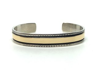 BRUCE MORGAN ブルースモーガン 3/8inch 14K STAMP BANGLE-CHISEL
